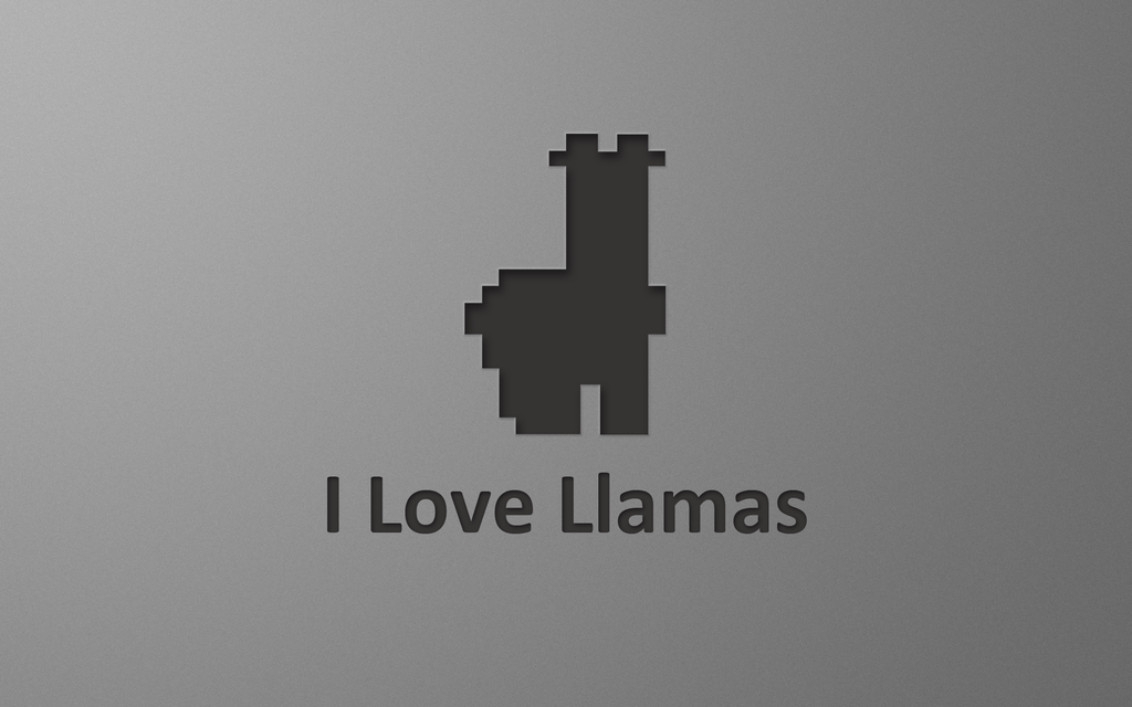 I Love Llamas - Wallpaper by FloStyler0408