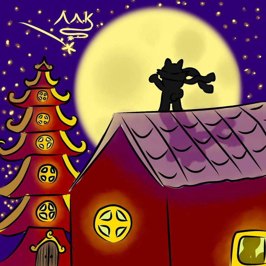 Outra FanArt do Mark ( aquele ali no telhado) by EdgyGreg