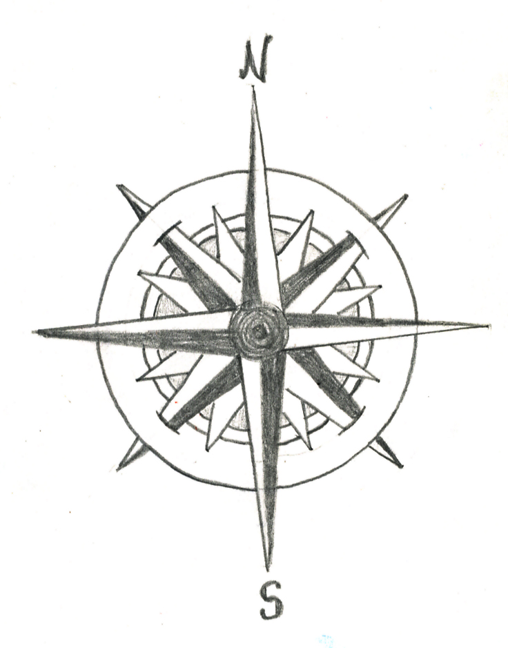 Compass rose tattoo by trappedinwires on DeviantArt
