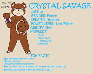Crystal Savage Character Sheet