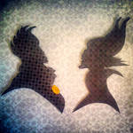 Ursula and Maleficent Silhouettes