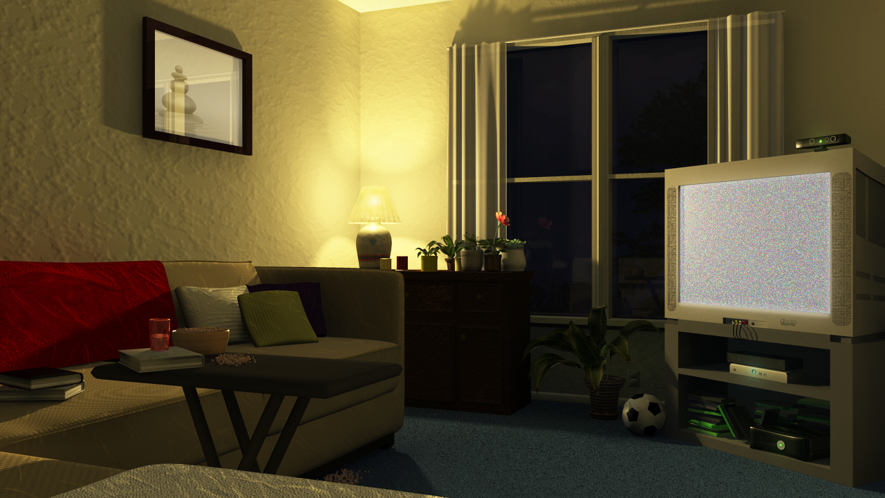Living room night by kyleconway727 on deviantart for Living room night