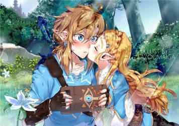 My hero - Zelda and link (Botw) by LaZoomaiga
