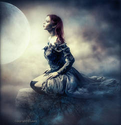 Alone with the moon by Laura-Graph