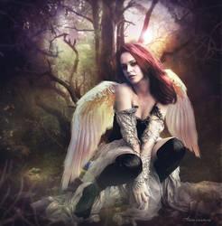 Un ange dans la foret