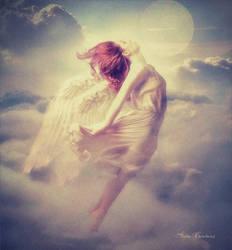 Un ange dans les nuages
