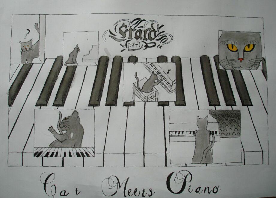 Cat Meets Piano
