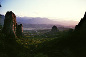 Meteora sunset by Zoudoul