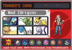 Trainer Card Red (Origins)