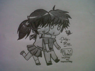Chibi Hug(inspired by mark crilley) by sui-kunn