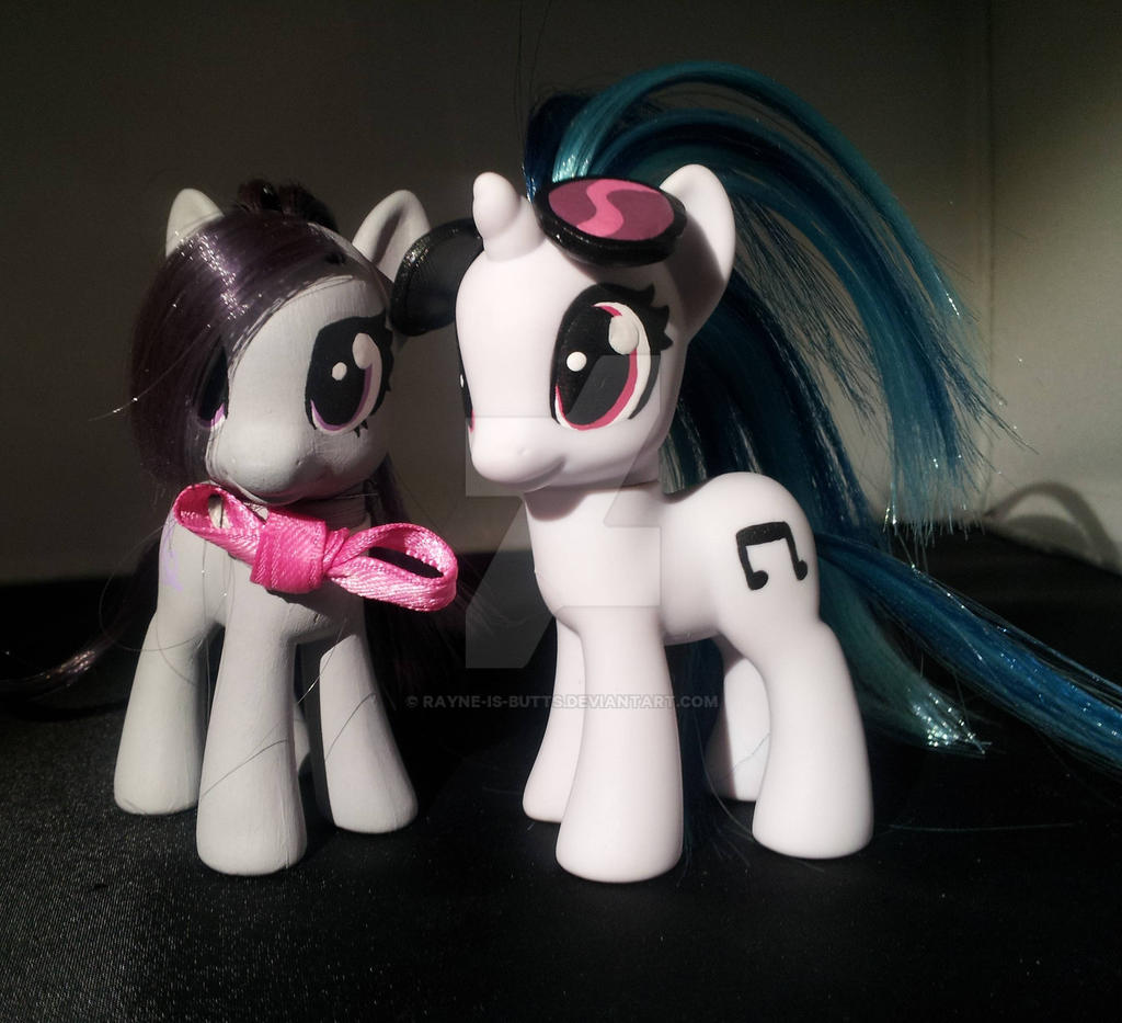 My Little Pony Custom: Octavia Melody and DJ Pon3 by Rayne-Is-Butts