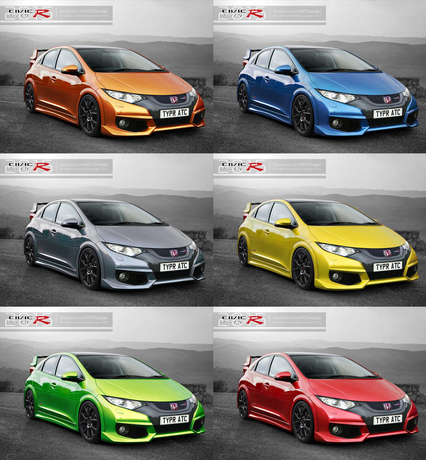 2015 honda civic type r colours by atc design on deviantart. Black Bedroom Furniture Sets. Home Design Ideas