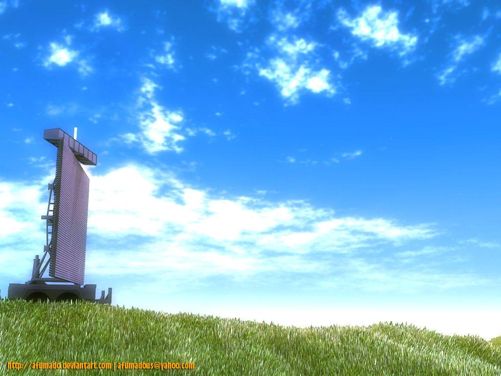 Plessey Radar in grass by afumado