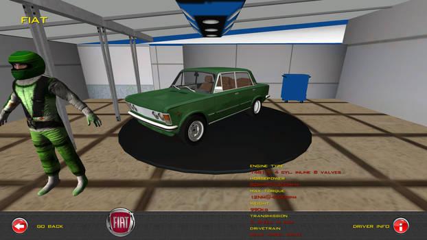 Fiat 125p Green Rally Wheels