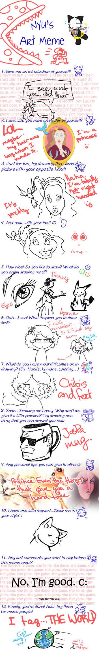 Nyu's Art Meme - Thanks Sam