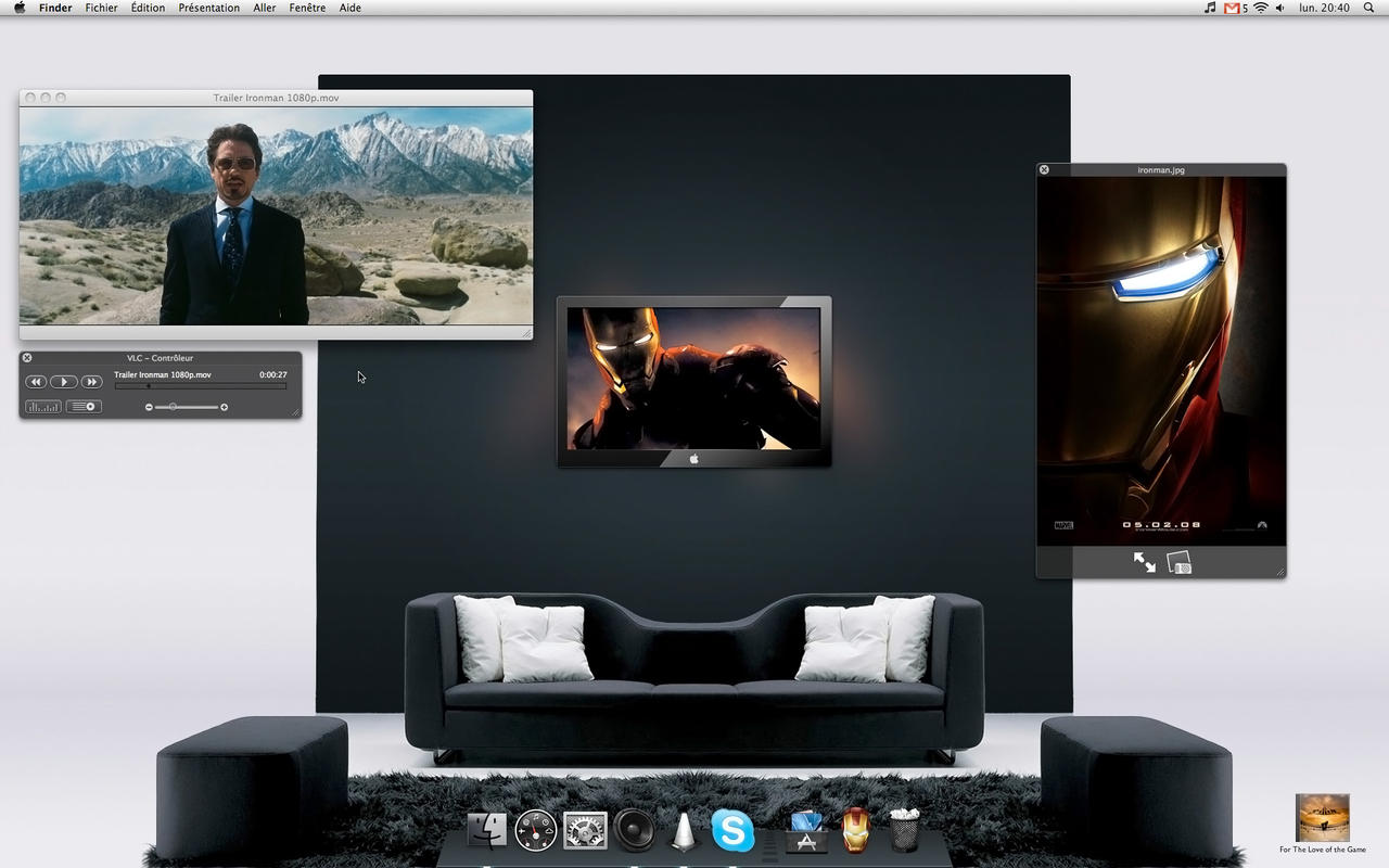 Ironman on my Desktop by monsieuralex974