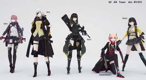 GIRLS FRONTLINE AR team by ZYC