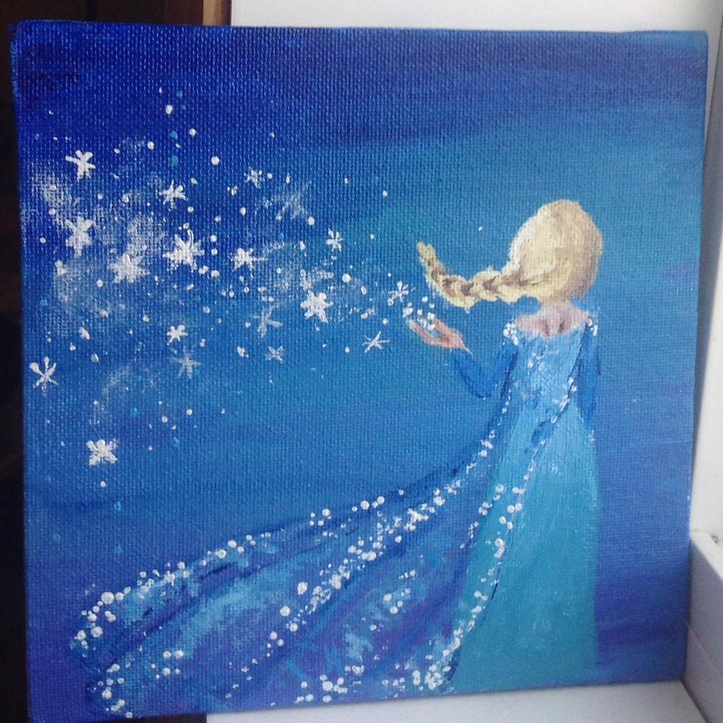 Disney Princess Acrylic Painting