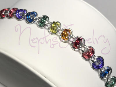 Barrel Weave Rainbow Bracelet by NephsJewelry