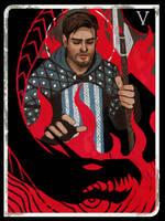 Grey Warden Tarot Card by KatrinaG46