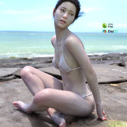 Korean woman's bikinis made in Daz3D by zniman