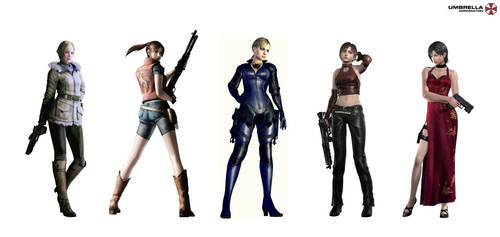 Favorite Resident Evil girls. by rollerfan222