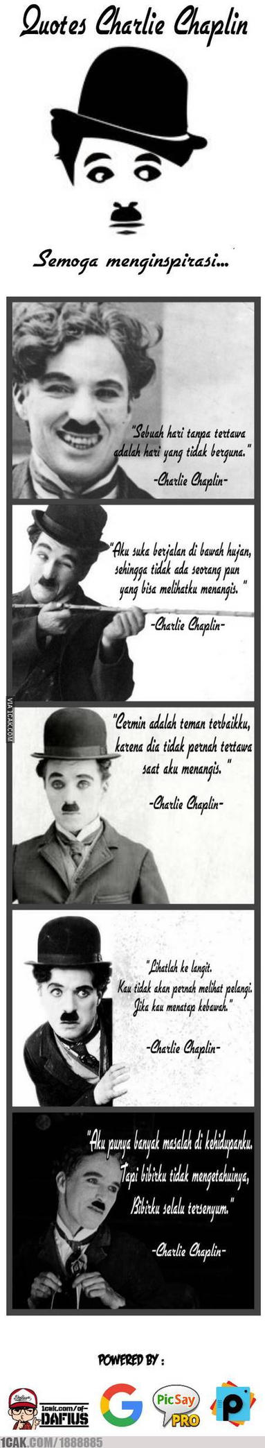 Chaplin Quotes(Indonesian version) by Tanosudibyo