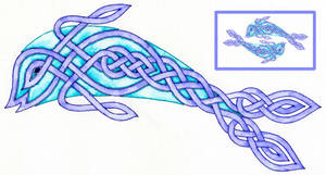 Celtic fish design