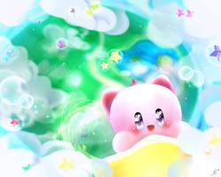 Kirby and star warp by Yuupinou