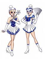 Princess SilverSnow and Sailor SilverSnow by Chibi-Sugar