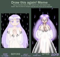 Pastel Purple Draw this again meme by Chibi-Sugar
