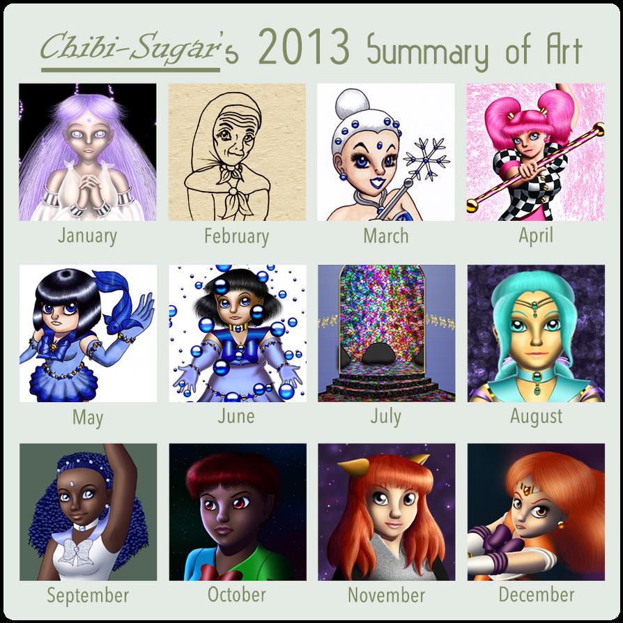 Art Summary 2013 by Chibi-Sugar
