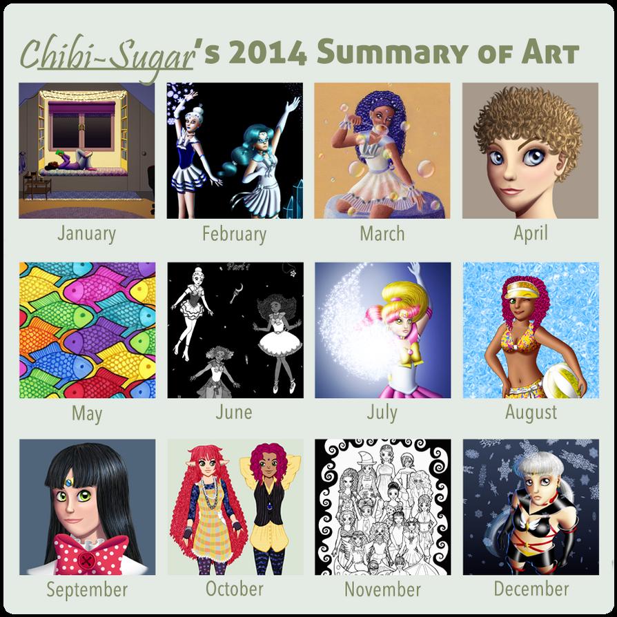 2014 Summary of Art by Chibi-Sugar