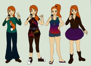 Hazels outfits by Chibi-Sugar