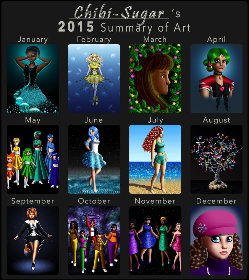2015 Summary of Art by Chibi-Sugar
