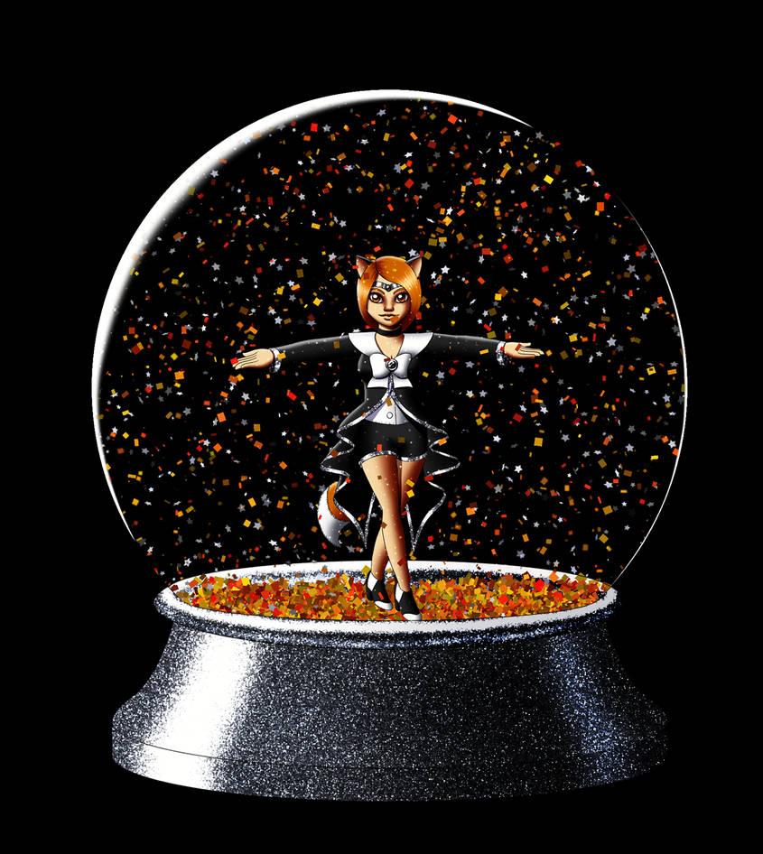 Hazel SnowGlobe by Chibi-Sugar