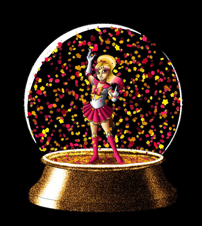 Commission Super Sailor Polaris Snowglobe by Chibi-Sugar
