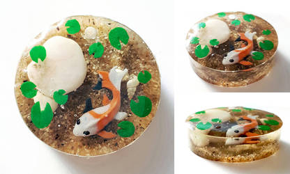Koi Pond Pendant 1 by Chibi-Sugar