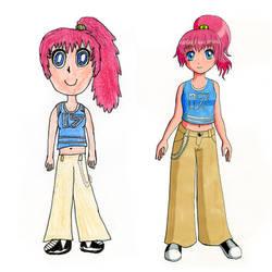 Pink hair girl redraw by Chibi-Sugar