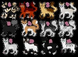 Feline adoptables [4/12] by IcedAdopts