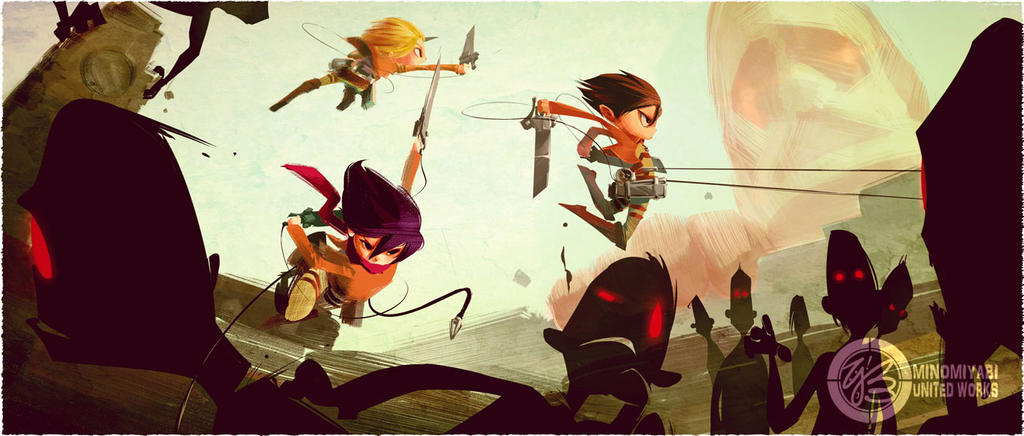 Attack on Titans by minomiyabi