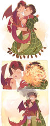 OSOSAN .:Dragon and Mage:. by SteakFrites