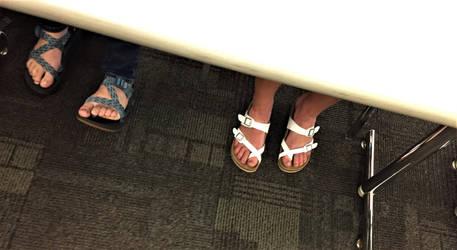 Candid College Girl Feet