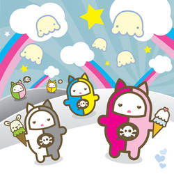 kitty sweets print by ladysnowbloodz
