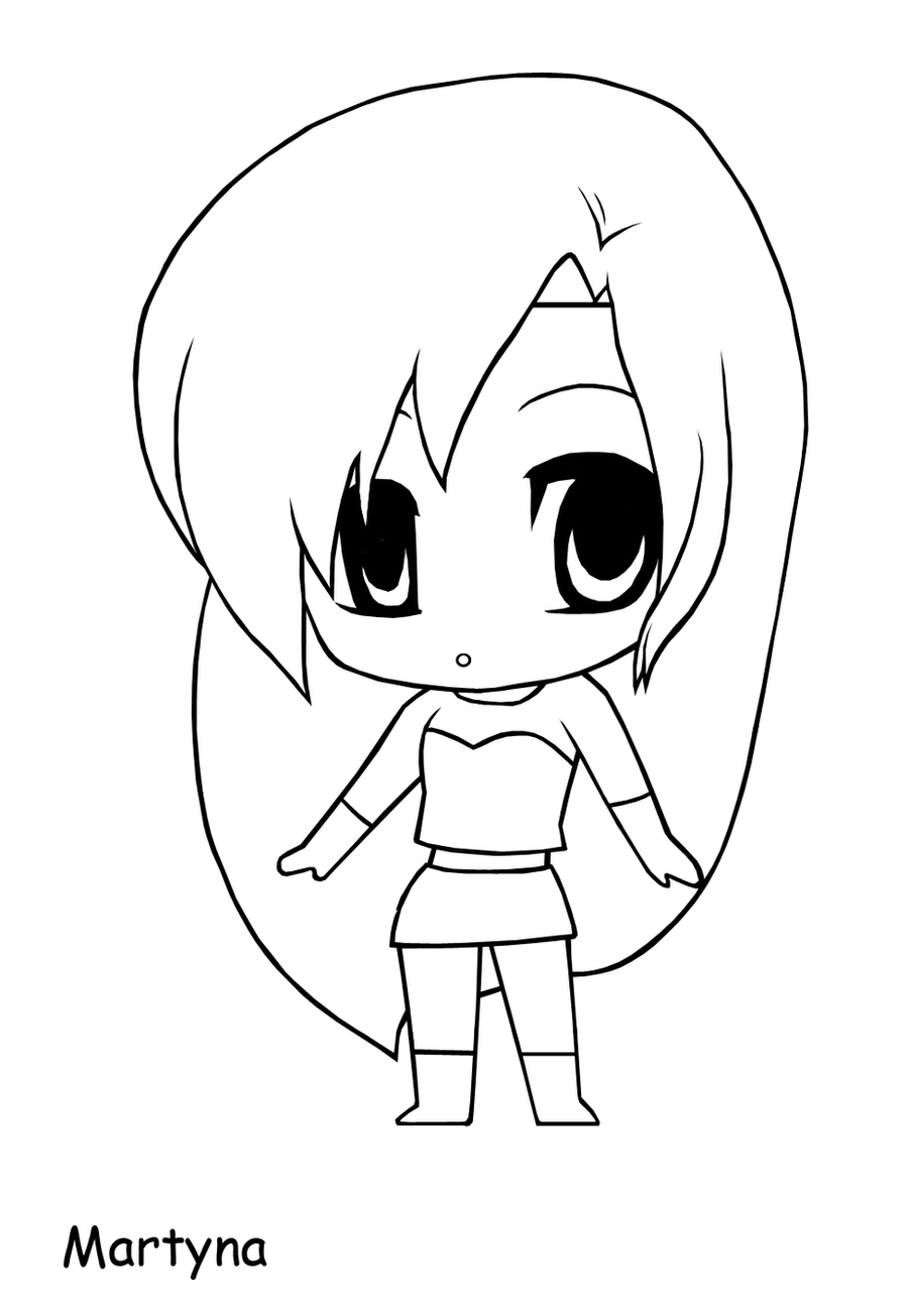 Yampuff Kleurplaat Lineart Chibi Martyna By The Piratequeen On Deviantart