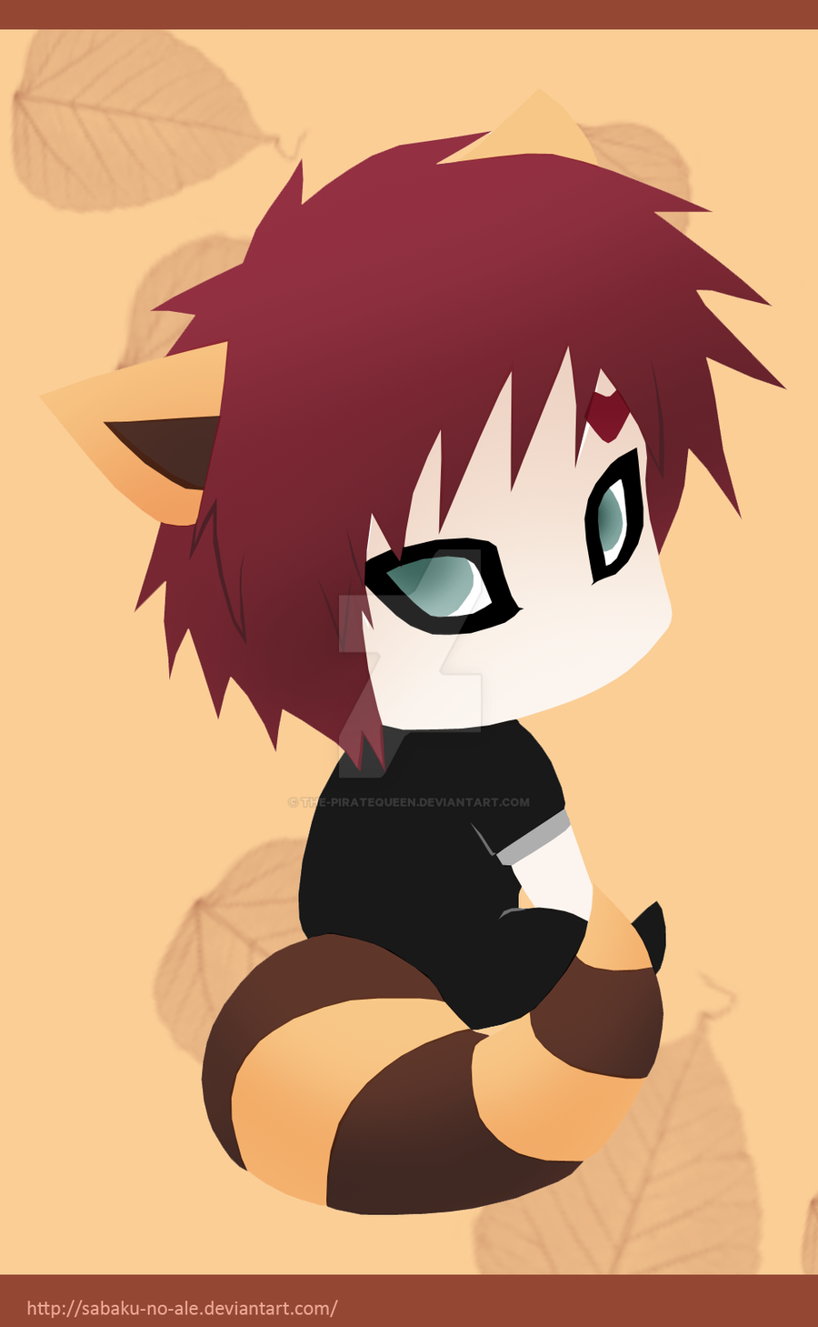 Chibis+Naruto: Gaara by The-PirateQueen on DeviantArt Gaara And Naruto Chibi