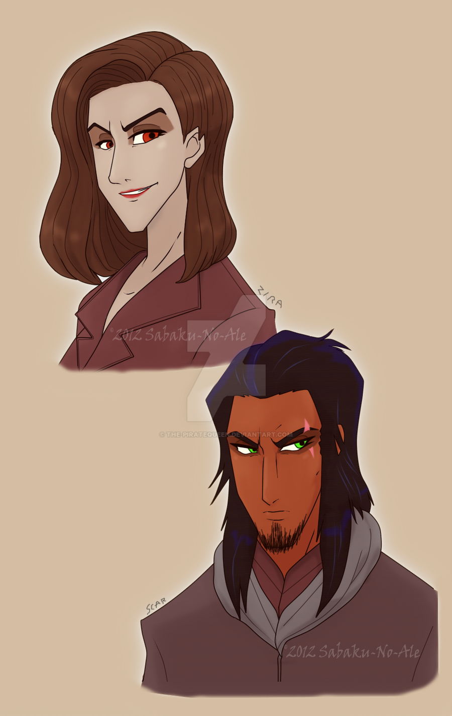 TLK: Zira and Scar human practice by The-PirateQueen on DeviantArt