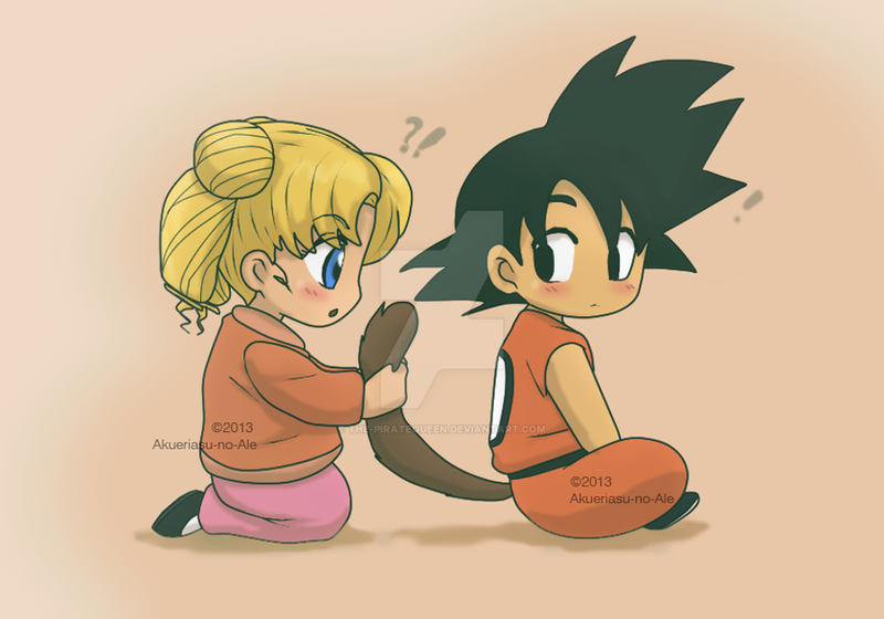 usagi and goku kids by the piratequeen on deviantart