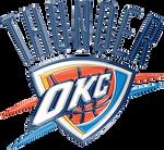 Oklahoma City Thunder 3D Logo by Rico560