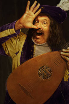 Happy lute player